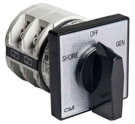Csii open or enclosed cam switches with mountings single hold 22mm, 30mm or 36mm, 48mm, 68mm square.